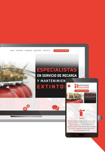 pagina extintores aracuania diseno web cliente victoria